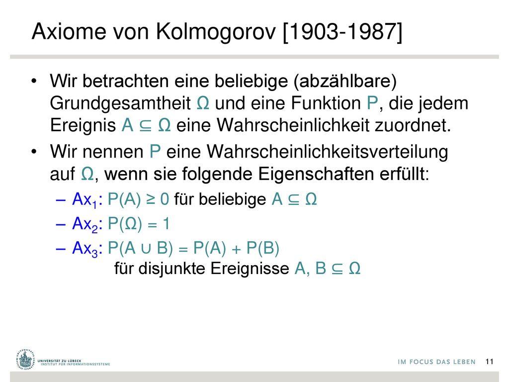 Axiome von Kolmogorov [1903-1987]